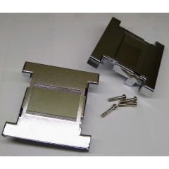 Gabinete Doble Db25 Plastico Gris Metalizado C/tornillos Itytarg