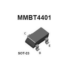 Lote 10 X Mmbt4401 Transistor Npn 60v 600ma Sot23  Itytarg