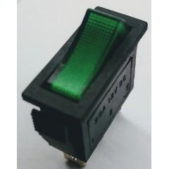 Llave 3 Pin Verde Gabinete Irs-101 On-off Spdt 20a 12vdc 27 X 11mm Itytarg