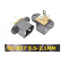Lote 5 X Conector Jack Dc 5.5 2.1mm Dc-017 Dc017  Chasis P/atornillar Itytarg