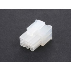 Lote 10 X Conector Minifit Housing 4.20mm  2x3 Pines A Cable Tipo Js01106010  Itytarg