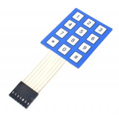 Teclado Membrana Matricial Azul 3x4 4x3 Autoadhesivo Arduino