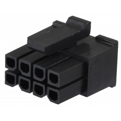 Lote 5 X Conector Microfit Housing Hembra 3mm 8 Pines 2x4 A Cable Tipo Cp3508 Itytarg
