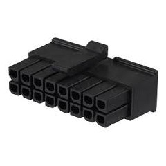 Lote 5 X Conector Microfit Housing Hembra 3mm 16 Pines 2x8 A Cable Tipo Cp3516s Itytarg