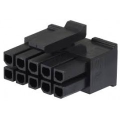 Lote 5 X Conector Microfit Housing Hembra 3mm 10 Pines 2x5 A Cable Tipo Cp3510s Itytarg