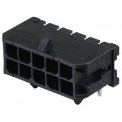 Lote 5 X Conector Microfit Macho Header 3mm 10 Pines 2x5 T/h Pcb 90 Grados Tipo Cp3510p Itytarg