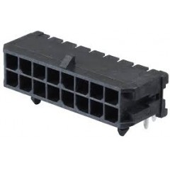 Lote 5 X Conector Microfit Macho Header 3mm 16 Pines 2x8 T/h Pcb 90 Grados Tipo Cp3516p Itytarg