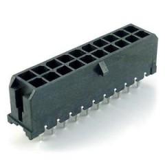 Lote 5 X Conector Microfit Macho Header 3mm 22 Pines 2x11 T/h Pcb Recto Tipo Cp3522p Itytarg