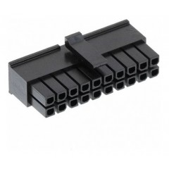 Lote 5 X Conector Microfit Housing Hembra 3mm 20 Pines 2x11 A Cable Tipo Cp3520s Itytarg