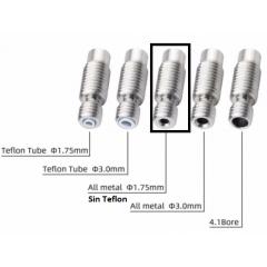 Garganta Tubo Barrel 22mm 1.75 Sin Teflon Ptfe / Hotend Impresora 3d Itytarg