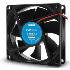 Cooler Fan Ventilador 12v 0.14a 80x80x25 1.7w Con Ruleman Conector Kf2510 2 Pin 3 Pulgadas Fullenergy Itytarg