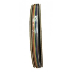 1 Metro Cable Plano 14 Conductores Awg28 1.27mm Dupont Flat  Itytarg