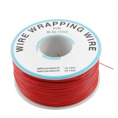 Rollo 300m Cable Rojo Wire Wrapping  30 Awg Itytarg