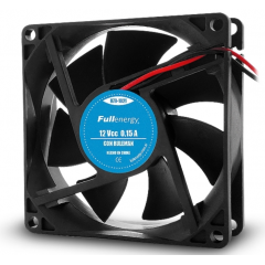 Cooler Fan Ventilador 12v 0.15a 80x80x25 1.7w  Con Ruleman 3 Pulg A Cable Fullenergy Itytarg