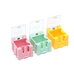 Lote 5 X Mini Gabinete Amarillo Componentes Smd Encastrable 22x26x32mm   Itytarg