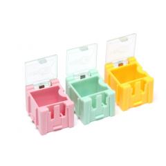 Lote 5 X Mini Gabinete Verde Componentes Smd Encastrable 22x26x32mm   Itytarg