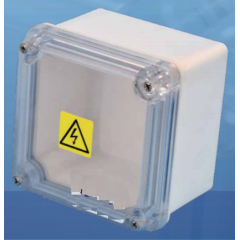 Caja Plastica Cp40c Gabinete Tapa Transparente Estanco Blanco Intemperie  Itytarg