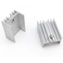 Lote 5 X Disipador De Calor Para To220 18x15x10mm Itytarg