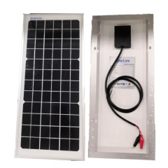 Panel Solar 12v 10w Con Cable  Cocodrilos Carga Baterias Itytarg