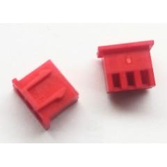 Lote 25  X Conector Rojo Housing Xh2.54 Hembra 3pin  Pitch 2.54mm Js-2001-03  Itytarg