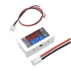 Voltimetro Amperimetro Digital Led 100v 10a Blanco Itytarg
