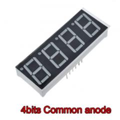 Display 7 Seg Ac Rojo 0.56 Pulg Cuadruple 14.2mm Altura Itytarg
