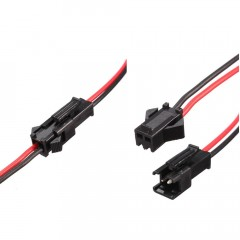 Lote 5 X Conector Tipo Sm 2 Pin Macho+hembra Cable 30cm Itytarg