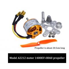 Kit Motor Brushless  Bldc A2212/10t 1400kv C/helice  Itytarg