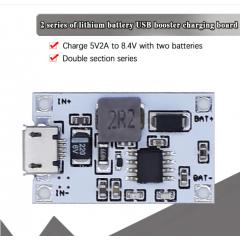 Cargador Bateria Litio 2s 8.4v Step Up, Entrada 5v 2a Usb Itytarg