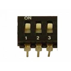 Dip Switch 3 Posiciones Negro  Itytarg