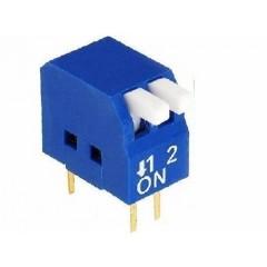 Dip Switch  2 Posiciones 90 Epg Azul Itytarg