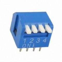 Dip Switch 4 Posiciones 90 Epg Azul Itytarg