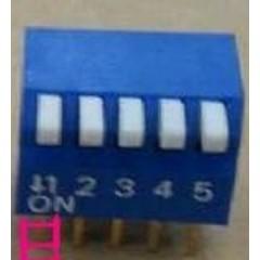 Dip Switch 5 Posiciones 90 Epg Azul Itytarg