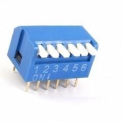 Dip Switch 6 Posiciones 90 Epg Azul Itytarg