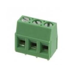 Lote 10 X Bornera Reforzada Verde 3 Pin Tor. Plano Xy128v-a-3p Altura 14mm  Itytarg