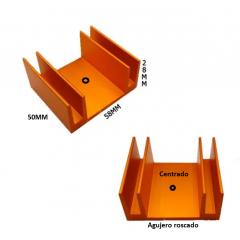 Disipador De Calor Zd1 X 50mm (58x28x50mm)  Mecanizado Itytarg