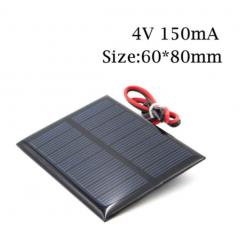 Panel Solar 4v 150ma 600mw Cnc60x80 C/cable 20cm Itytarg