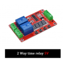 Timer Rele 2ch Multifuncion 5v Display Itytarg