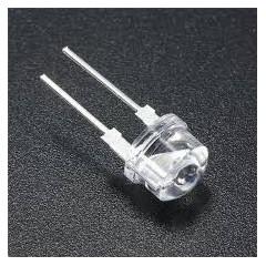 Lote 25 X Led 8mm Wc Blanco Frio Alto Brillo 0.5w F8  Itytarg