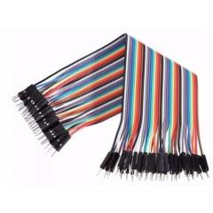 40 Cables Macho Macho 20cm Premium Dupont Arduino Itytarg