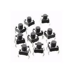 Lote 10 X Tact Switch Pulsador Tsac-2 3mm Marron Itytarg