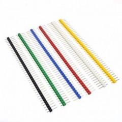 12 X Tira 40 Pines 6 Colores 2.54mm Generico Itytarg