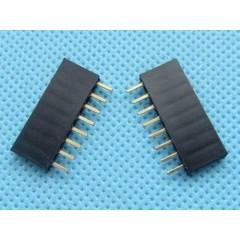 10 X Tira 1x8 Pines Hembra No Fraccionable 2.54mm Pin 3mm Generico Itytarg
