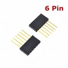 2 X Tira Pines Hembra Conector 6 Pin 11mm 2.54mm Pc104 Generico Itytarg