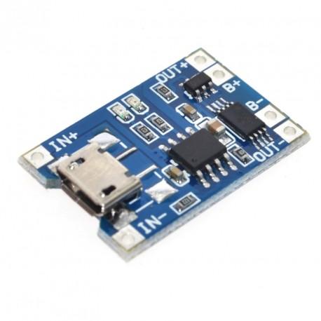 Tp4056 C/proteccion Micro Usb 1a Cargador Bateria 18650 Ityt