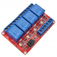 Modulo Rele 4ch Canales Relay Opto 12v Arduino Itytarg