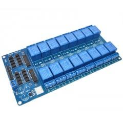 Modulo Rele 16ch 5v Relay Opto Arduino Itytarg