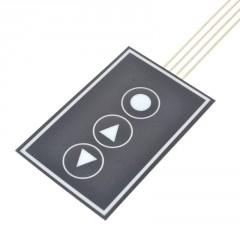 Teclado Membrana Control 3 Pulsadores 55x35mm 10cm Itytarg